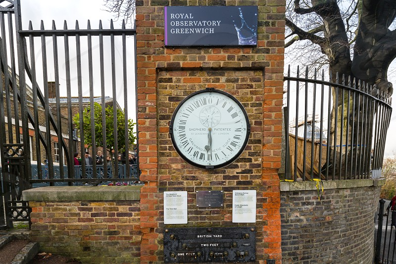 Prime Meridian Line Royal Observatory Greenwich London  photo