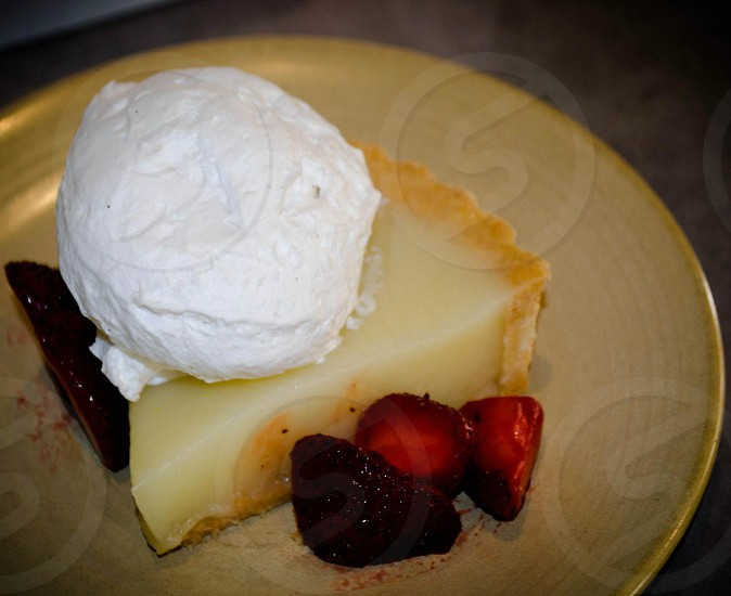 Organic gluten-free lemon tart photo