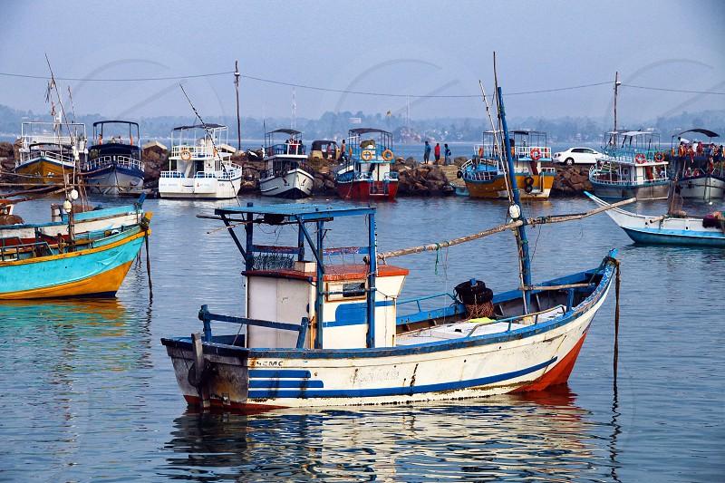 Fishing boat in Sri Lanka photo