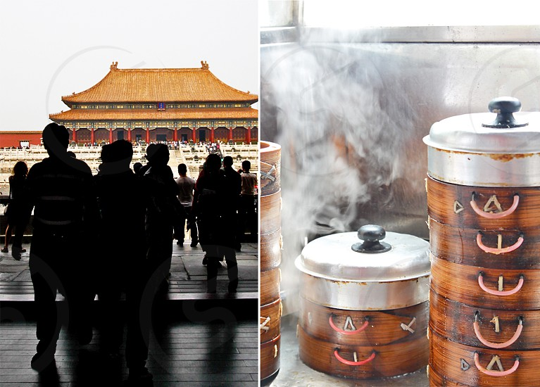 Beijing China dumplings forbidden city asia  photo