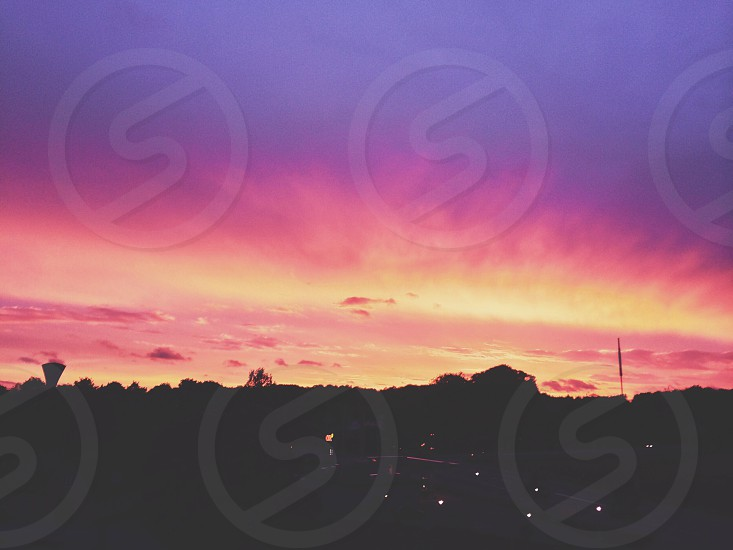 Sunset with nicely saturated colors  photo