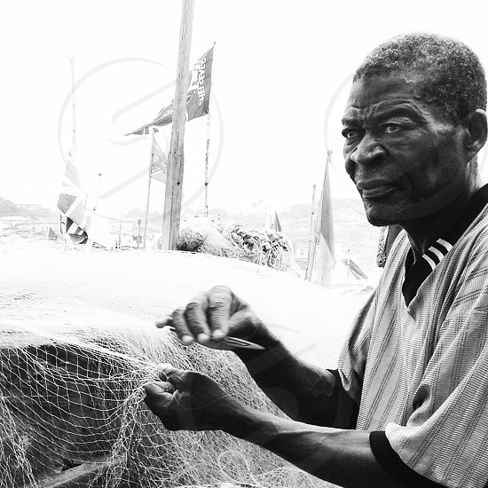 Ghanaian fisherman  photo