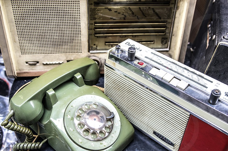 Old phone and radios photo