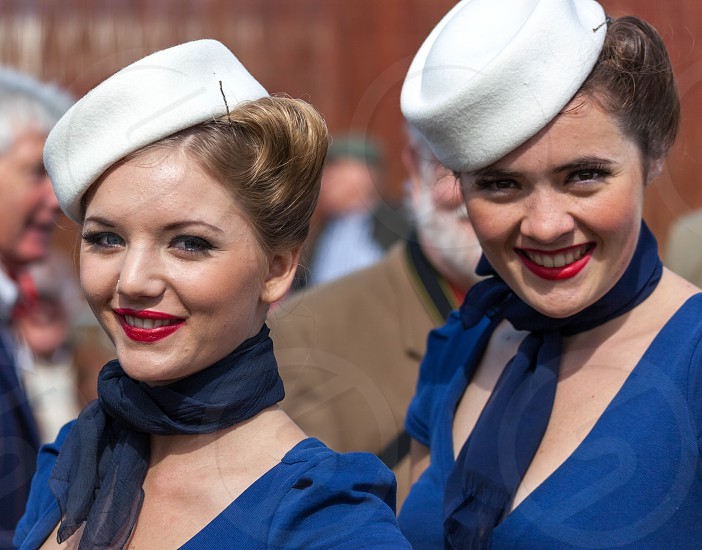 Smiling women at the Goodwood Revival photo