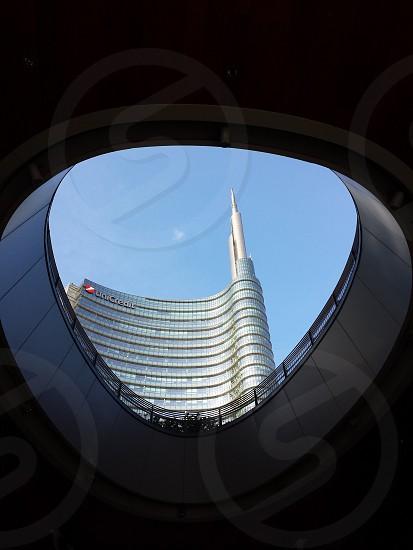 low angle photo of uni credit tower photo