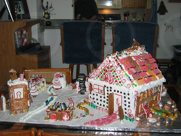Christmas ginger bread house holiday candy photo