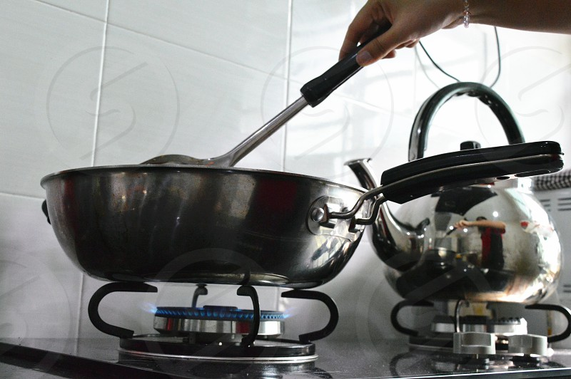 food preparation in the kitchen photo