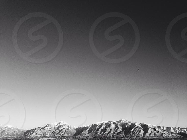snowy mountain view photo