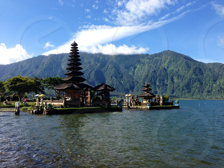 pagoda in the lake photo