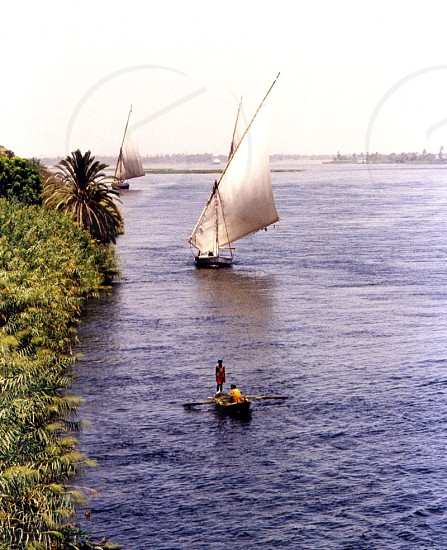 Nile river - Sailing from Assuan to Luxor photo