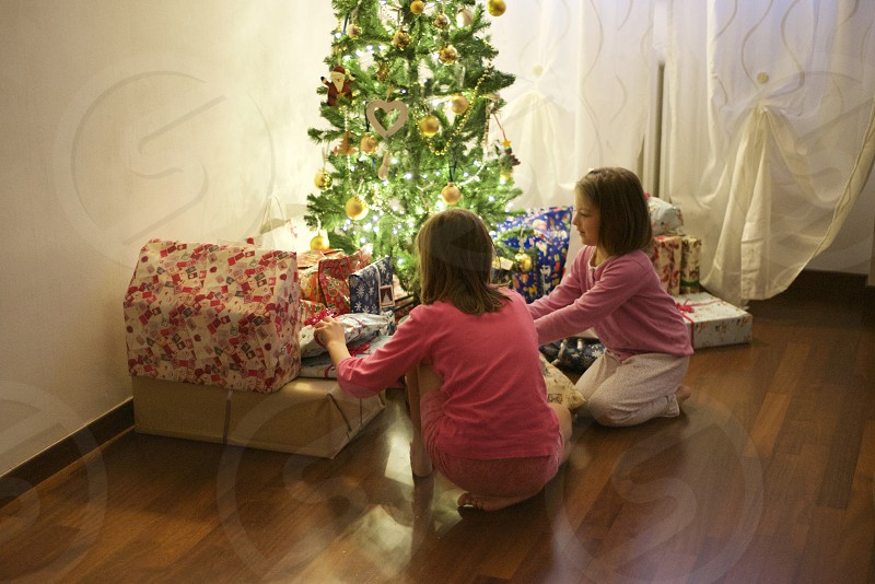 Present gift Christmas children magic photo