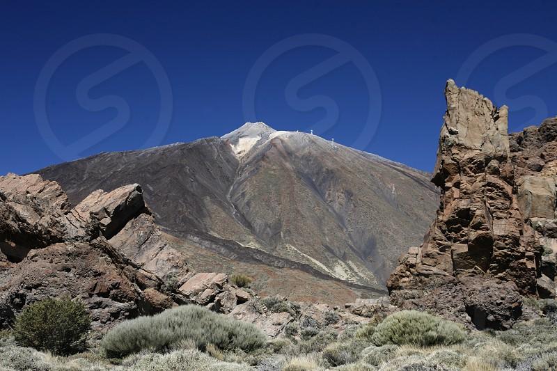 The Volcano Teide on the Island of Tenerife on the Islands of Canary Islands of Spain in the Atlantic.   photo