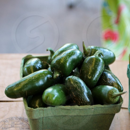 Green jalapeno peppers photo