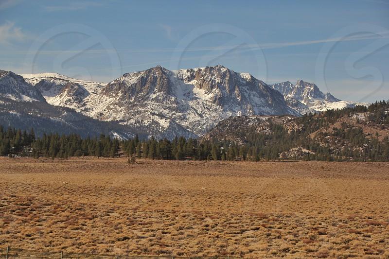 gray mountains photo