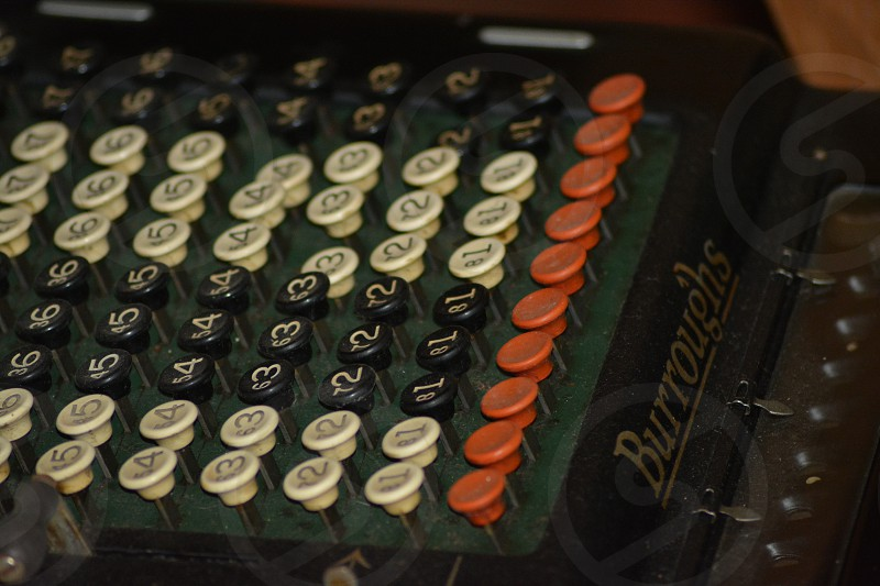 Vintage Burroughs adding machine. photo