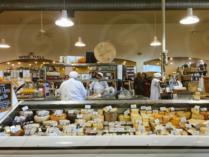 Cheese counter grocery store  photo