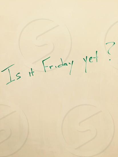 Monday morning whiteboard  photo