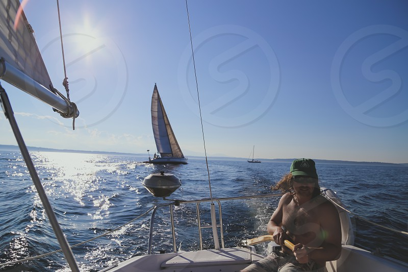 Sailing in the North West.  photo