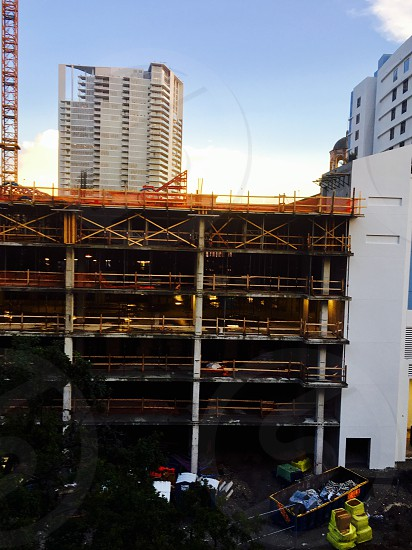 Cityscape high rise city downtown construction building Florida  photo