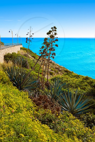 Cullera Mediterranean sea in Valencia of Spain photo
