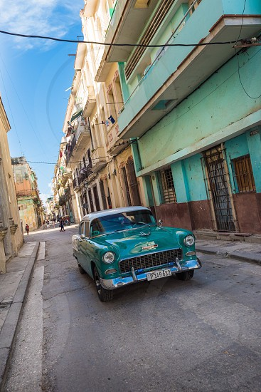 Vintage classic car Havana Cuba retro travel photo