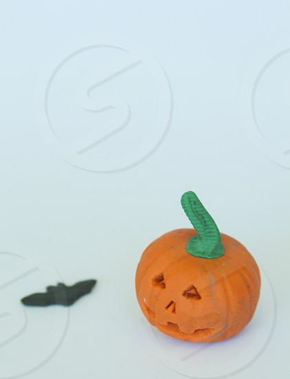 pumpkin with white background for halloween photo