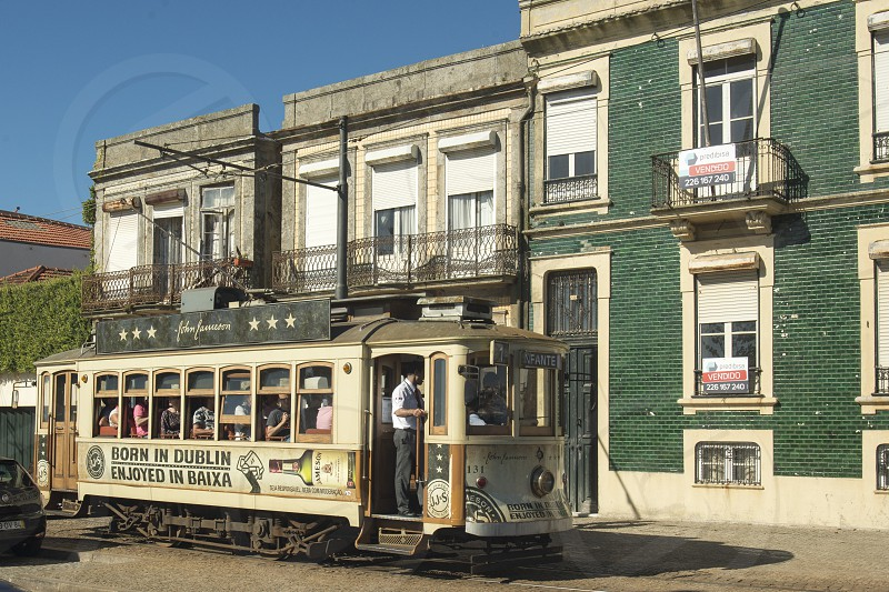 the city funicular city train in the city centre of Porto in Porugal in Europe. photo