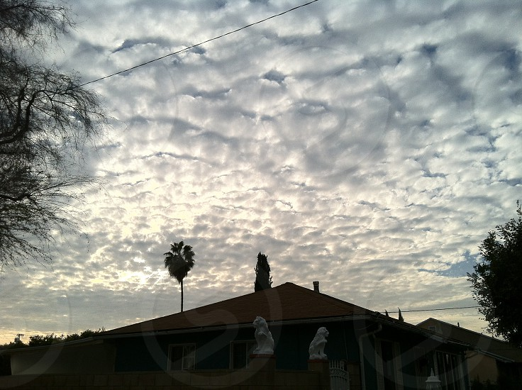 The clouds above my house. Duarte CA photo