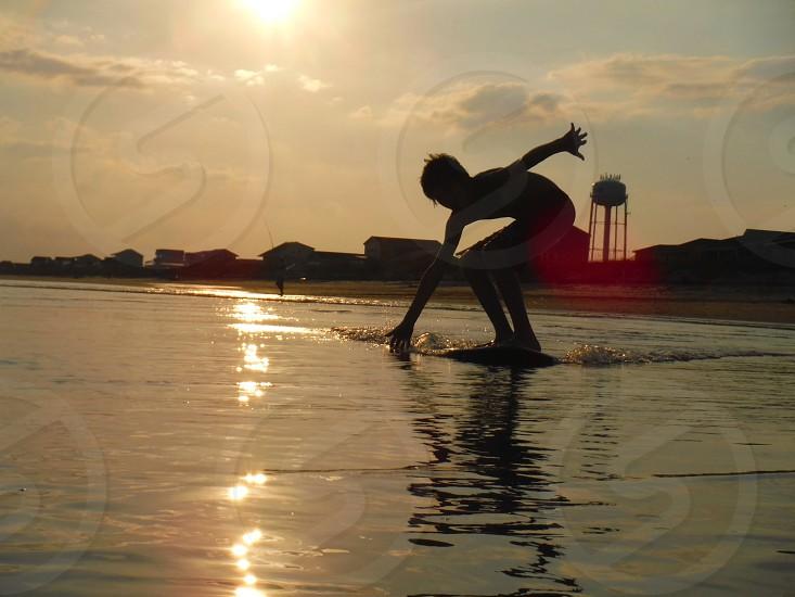 Sunset Skimming photo