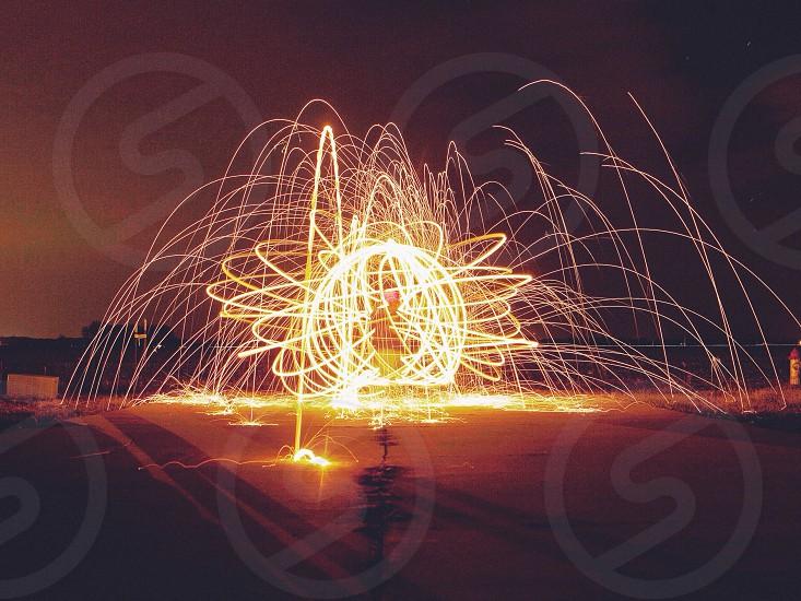 yellow and orange fireworks photo