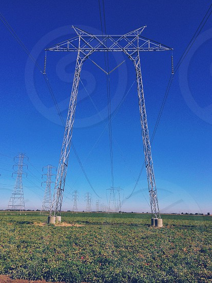 tall power line photo
