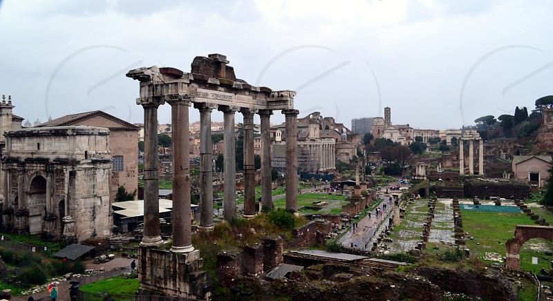 Rome Italy Roman Forum ancient ruins photo