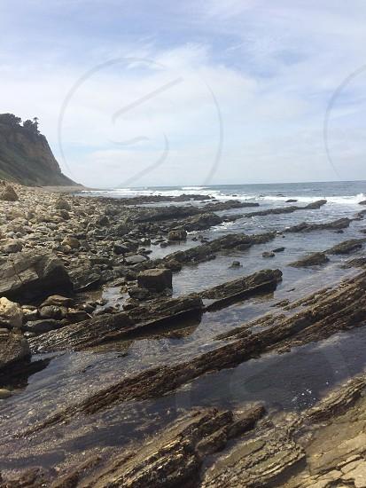 rocks ocean water photo
