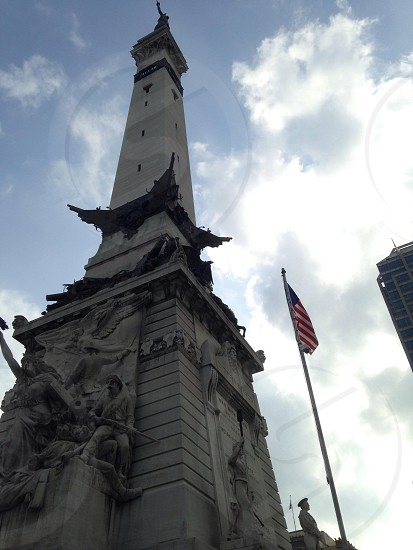 Indianapolis war monument photo