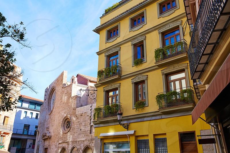 Valencia  in Spain Lope de Vega square downtown of Spain photo