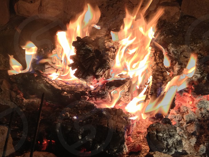 Fire on Black Peak Luna NM photo