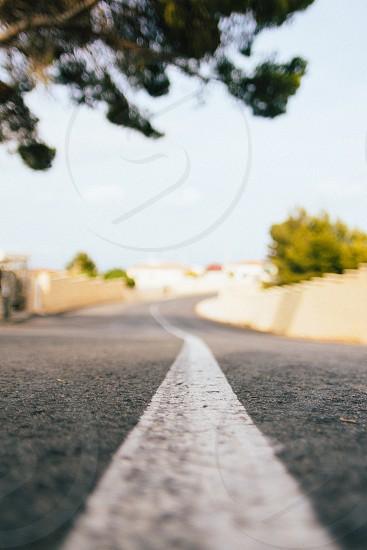 white road line photo