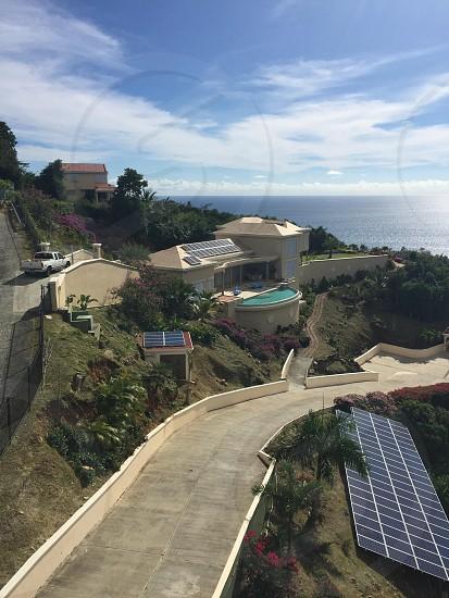 Solar power panels on homesite  photo