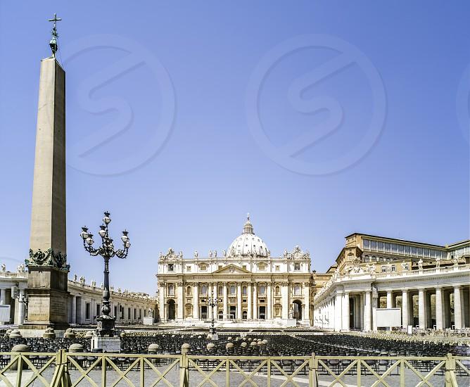 St. Peter's Squar Vatican Rome. General view photo