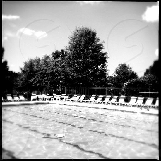 empty suburban pool photo
