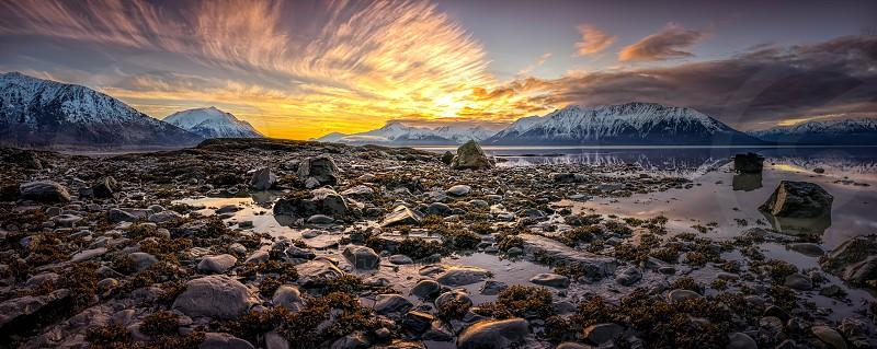 feathers sunrise Indian Alaska winter photo
