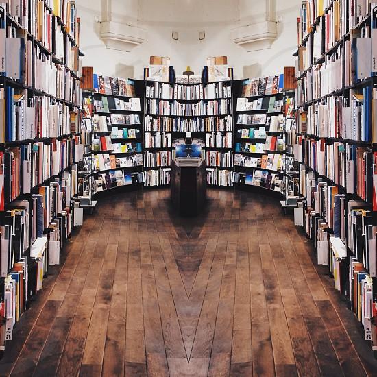 photo of room full of books photo