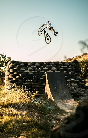 MTB Bike Dirty Can Can Bike grass Sunset Jump photo