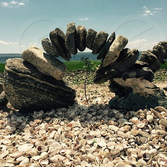 Stonehenge at the beach photo