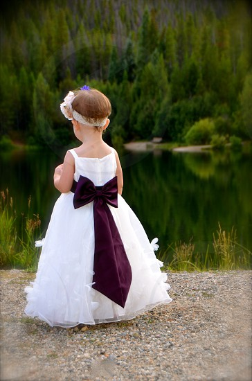 Daughter Wedding Future Child Mountain Lake photo