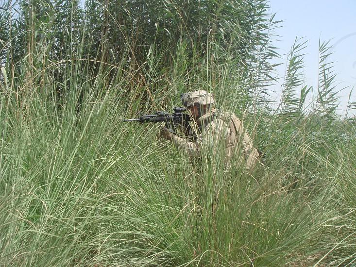 Marine Iraq M16 photo