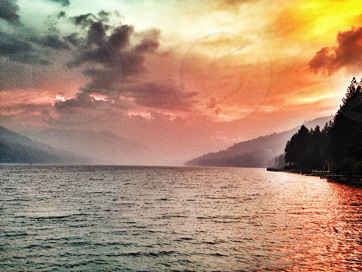 Donner Lake Sunset during the King Fire photo