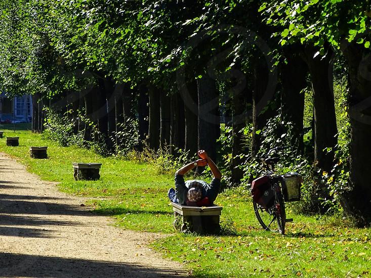 Biker in Berlin Germany photo