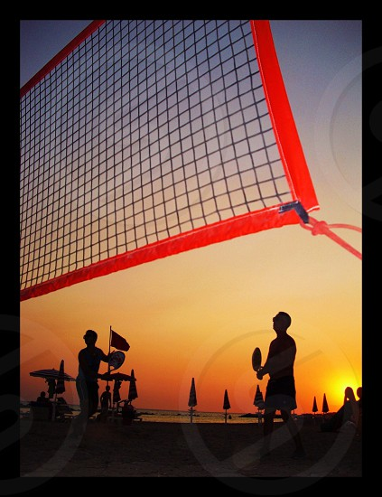 red volleyball net photo