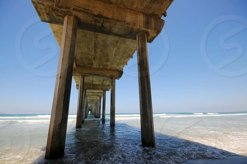 Scripps Pier at La Jolla shores in San Diego California photo